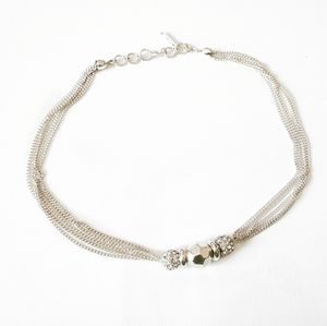 Nine West silver chain necklace multi strand 16-18
